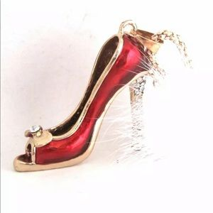 Red Stiletto Necklace